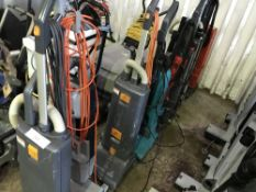 8 X ASSORTED VACUUM CLEANERS...SOURCED FROM LARGE CONTRACT CLEANING COMPANY.....THIS ITEM MAY BE