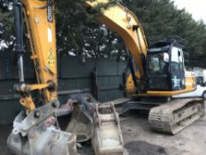 JCB JS220 tracked excavator c/w 4no. buckets, 9290 rec.hrs. Tracks replaced/refurbed at 6000 hrs