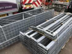 QTY OF GALVANISED PALLET RACKING 14FT AND 9FT HEIGHT APPROX Sold Under The Auctioneers Margin