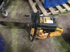 PARTNER CONCRETE CUTTING CHAINSAW Sold Under The Auctioneers Margin Scheme, NO VAT Charged on the