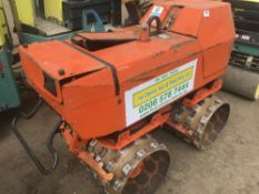 RAMMAX TWIN DRUM SHEEPSFOOT TRENCH ROLLER WITH REMOTE CONTROL YEAR 2005 SN:1535982 PN;9122FC 1274