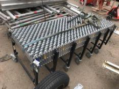 Extending roller conveyor