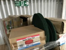 LARGE PALLET OF CLEANING PADS Sold Under The Auctioneers Margin Scheme, NO VAT Charged on the hammer