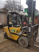 BOSS 3 TONNE DIESEL FORKLIFT TRUCK WITH TRIPKLE MAST AND SIDE SHIFT. BRAKES POOR AND NEED