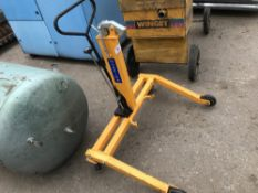 Wheeled barrel lifting trolley Sold Under The Auctioneers Margin Scheme, NO VAT Charged on the