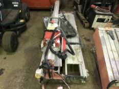 RUBI LARGE BED SLAB CUTTING SAWBENCH, EX COMPANY LIQUIDATION Sold Under The Auctioneers Margin