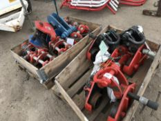 2 X PALLET OF ASSORTED LIFTING EQUIPMENT, UNTESTED