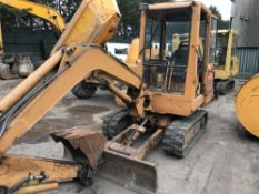 CASE 2.8 TONNE RUBBER TRACKED EXCAVATOR SN:GCK2855956 when tested was seen to start, drive, slew and