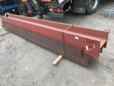 PACK OF 4 NO ASSORTED LENGTH HEAVY GUAGE H SECTION RSJ STEELS, DIRECT FROM COMPANY LIQUIDATION