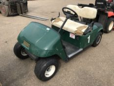 PETROL ENGINED GOLF BUGGY WHEN TESTED WAS SEEN TO START AND DRIVE..BATTERY LOW