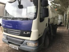 DAF 45.160 road sweeper with Johnson equipment, reg. AE57 BDO. New donkey engine recently fitted,