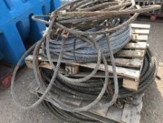 LARGE QUANTITY OF HEAVY DUTY WIRE HAWSER CABLES