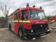 CARMICHAEL 4x2 FIRE ENGINE C/W LADDERS REG: E840 JYV Sold Under The Auctioneers Margin Scheme, NO