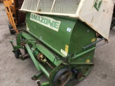 AMAZONE FLAIL COLLECTOR, 5FT WIDTH APPROX.