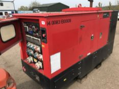 GENSET MG50SSP SKID GENERATOR. WHEN TESTED WAS SEEN TO RUN AND SHOWED POWER ON THE GUAGE.....