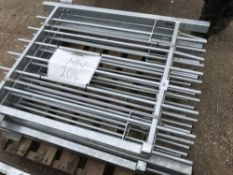 5 X SMALL SIZED PEDESTRIAN GALVANISED ENTRANCE GATES