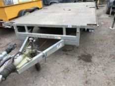 """ME FLAT BED 12FT x 6FT 6"""" TRAILER, YR2011 APPROX."""