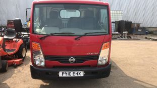 NISSAN CABSTAR DROP SIDE TRUCK REG:PY10 EHX WHEN TESTED WAS SEEN TO DRIVE, STEER AND BRAKE (ENGINE