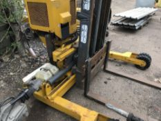KOOI WALK BEHIND LORRY MOUNTED FORKLIFT, 1179 REC.HRS drives, steers and lifts