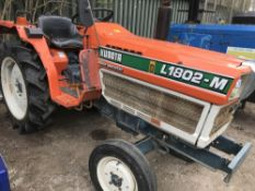 Kubota L1802 compact tractor 2WD SN:22913 when tested was seen to start, drive steer and brake