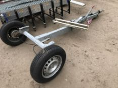 Single axle trailer chassis Sold Under The Auctioneers Margin Scheme, NO VAT Charged on the hammer