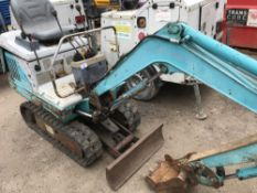 IHI 70X3 mini excavator SN:1319029 when tested was seen to start, drive, slew and dig