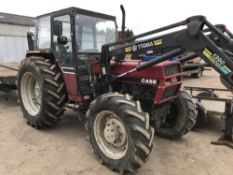 CASE 885 TRACTOR WITH FOREND LOADER AND BALE SPIKE, EX LOCAL FARM when tested was seen to start,