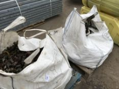 2 BAGS CONTAINING APPROXIMATELY 385 SCAFFOLD CLIPS EACH...SOLD TOGETHER AS ONE LOT Sold Under The