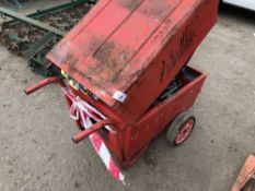 6KVA STEPHILL BARROW GENERATOR, RED…untsted, condition unknown