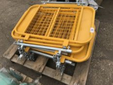 9 X SCAFFOLDING SAFETY GATES Sold Under The Auctioneers Margin Scheme, NO VAT Charged on the