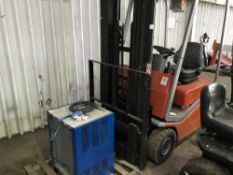 BT CBE15T BATTERY FORKLIFT C/W CHARGER, YR2005, SN: CE261906, EX COMPANY LIQUIDATION Sold Under