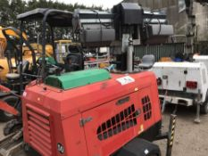 VT1 Eco towed lighting tower when tested was seen to run and make light