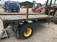3 WAY TIPPING AGRICULTURAL TRAILER, PREVIOUS COUNCIL USEAGE. HYDRAULIC PIPE REQUIRES REPLACEMENT