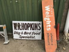 2 X OLD ENAMEL SIGNS Sold Under The Auctioneers Margin Scheme, NO VAT Charged on the hammer price of