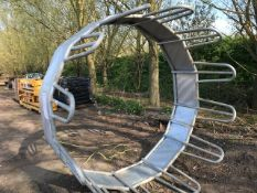 LARGE GALVANISED RING CATTLE FEEDER Sold Under The Auctioneers Margin Scheme, NO VAT Charged on
