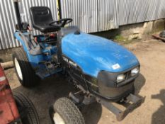 NEW HOLLAND TC21D 4WD COMPACT TRACTOR...WHEN TESTED WAS SEEN TO DRIVE, STEER AND BRAKE...SEE VIDEO