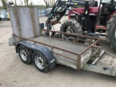 INDESPENSION MINI DIGGER TRAILER, TWIN AXLED