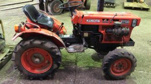 KUBOTA B7100 4WD COMPACT TRACTOR SN:83774 when tested was seen to start, drive and pto turned..NB: