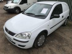 Vauxhall Corsa panel van, white, REG: WP55 VYG FIRST REG. 13.2.2006 TEST TO 3.1.2020 WITH V5 Sold