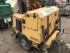SMC TL90 towed lighting tower, yr2007 PN: 6165FC when tested was seen to run and make light
