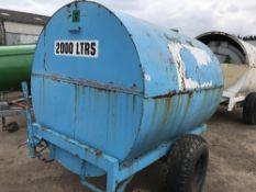 2000litre Bunded site towed diesel bowser