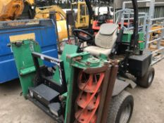 Ransomes 4wd triple ride on mower when tested was seen to start, drive steer and brake