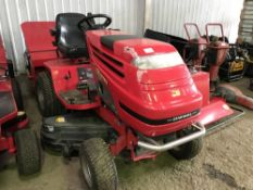 COUNTAX D18-50 RIDE ON MOWER DIESEL ENGINE WITH COLLECTOR ALSO COMES WITH SLITTER ROLLER TRAILER AND