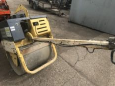 BOMAG SINGLE DRUM ROLLER SN:101620271015 PN:5642FC when tested was seen to start, drive and vibrate