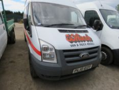 Ford Transit high top panel van, reg. PL10 EOY, with V5 and test to 1.8.2019 178,609 REC MILES
