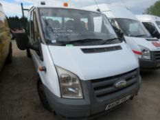 FORD TRANSIT 100T350 DOUBLE CAB TIPPER REG: NA08 YBJ 103,308 REC KMS, WITH V5 WHEN TESTED WAS SEEN
