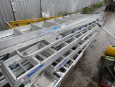 APPROX 12 X ASSORTED STEP LADDERS, MAINLY ALUMINIUM