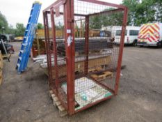 LOCKABLE MESH SIDED CAGE