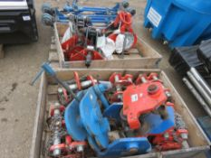 2no. Pallets of assorted lifting equipment