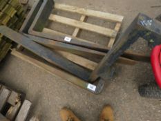 """PAIR OF FORKLIFT TINES TO FIT 15.5"""" CARRIAGE WITH BIG DROP"""
